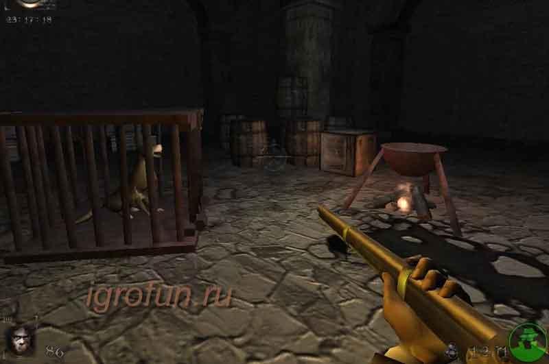 Компьютерная игра жанра хоррор Nosferatu: The Wrath of Malachi - скриншот