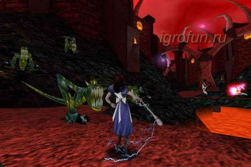 скриншот игры в жанре ужасов American McGee's Alice