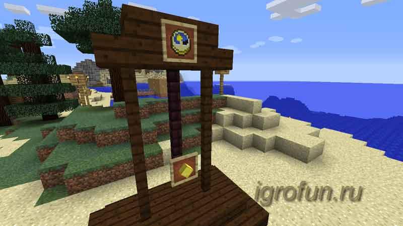 Minecraft: делаем часы с маятником