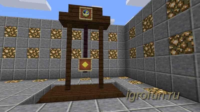 Как сделать часы с маятником в Minecraft
