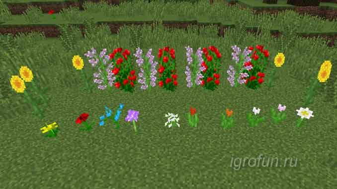 Цветы в игре Minecraft - значение и применение