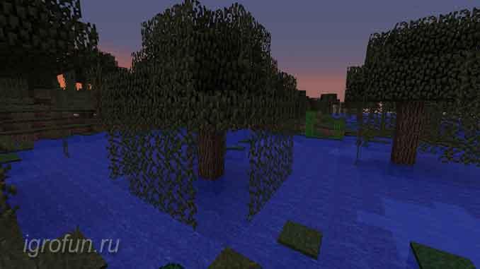Лоза на болоте в игре Майнкрафт