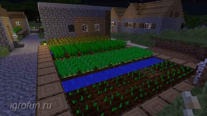 Огород в компьютерной игре Minecrat