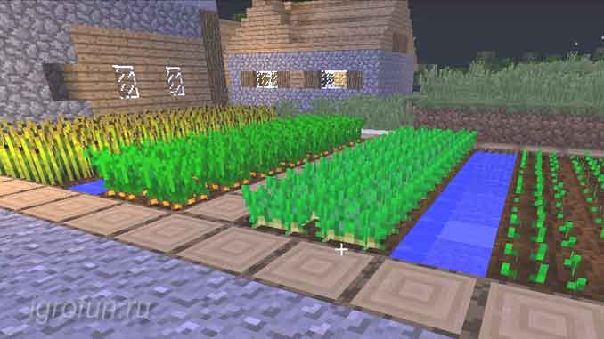 Огород в Майнкрафт